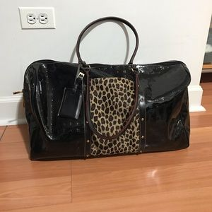 ARCADIA Black Bag New without Tag, Made in Italy